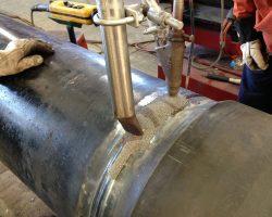 Conductor casing welding